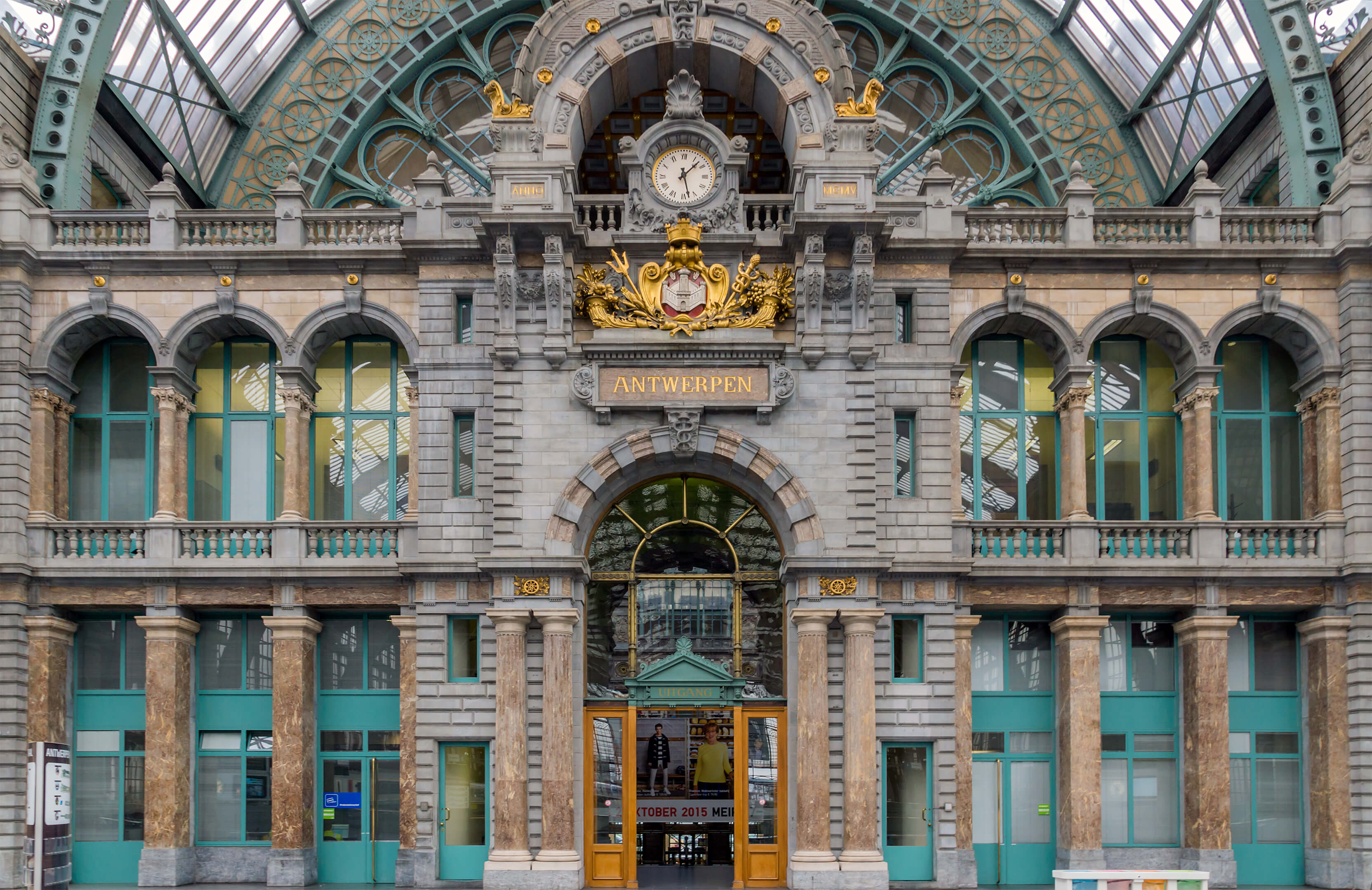 Photo of the railway station in Antwerp. Is public transport for you a way to access the Belgian and Dutch market?